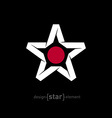 star with Japan flag colors and symbols without vector image