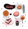 Delicious dessert design elements set Donut Cake vector image