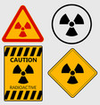 Radioactivity sign set - vector image