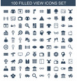 100 view icons vector image vector image