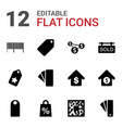 12 price icons vector image vector image