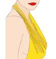 A very sensual woman vector image vector image