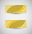 Abstract business banner yellow wave background vector image