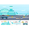 Airport Flat Style vector image