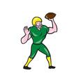 American Football QB Throwing Retro vector image vector image
