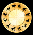 animal symbols chinese calendar circle vector image vector image