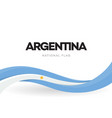 argentinian waving flag banner argentina vector image vector image