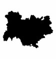 auvergne-rhone-alpes silhouette map