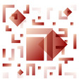 background with abstract square pattern and vector image vector image