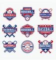 baseball logo 2 vector image vector image