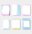beautiful journal card frames vector image
