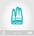 beer bottle outline icon summer vacation vector image vector image