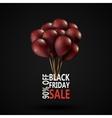 Black Friday sale inscription photorealistic vector image vector image