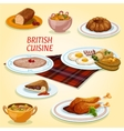 British cuisine dishes for breakfast and lunch vector image vector image