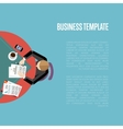 Business template Top view workspace background vector image vector image