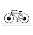 bycicle silhouette vector image vector image