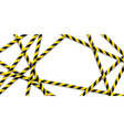 caution tape police do not pass do not cross vector image vector image