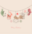 christmas background cute holiday ornaments vector image vector image
