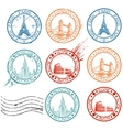 City stamps collection vector | Price: 1 Credit (USD $1)