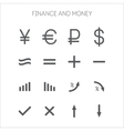 collection of simple icons for business vector image