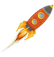 comic rocket ship vector image vector image