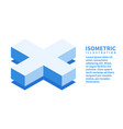cross icon isometric template for web design vector image vector image