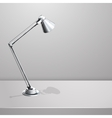 Desk lamp on table White empty background vector image vector image