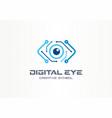 digital eye creative symbol concept cyber vision vector image vector image