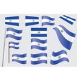 El Salvador Flag vector image vector image