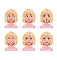 face expressions cute blonde woman vector image vector image
