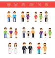flat same-sex couples male vector image vector image