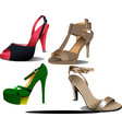 Four pairs of fashion woman shoes