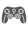 game controller glyph icon game and play vector image