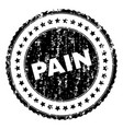 grunge textured pain stamp seal vector image