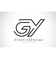 gy g y letter logo design in black colors vector image vector image