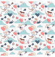 happy valentines day seamless pattern boy girl vector image vector image
