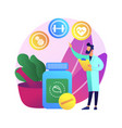 holistic medicine abstract concept vector image vector image