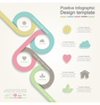 Infographic report template with lines and icons vector image vector image
