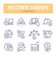 investment growth doodle icons vector image