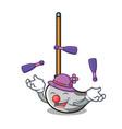 juggling mop mascot cartoon style vector image vector image
