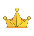 king crown symbol vector image