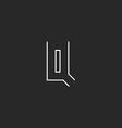 Letter Q logo monogram initial typography design vector image