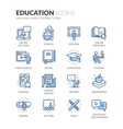 Line Education Icons vector image vector image