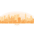 linear banner of new york city buildings vector image vector image