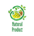 logo of natural product vector image vector image