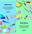 manicure seamless pattern pedicure and vector image vector image