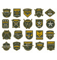 military and army patches chevrons vector image vector image
