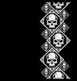 new pattern 2019 skull 0003 vector image