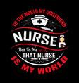 nurse t shirt design vintage emblems vector image vector image