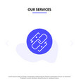 our services link chain url connection link solid vector image vector image